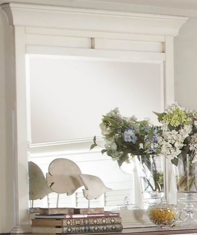 Floresville Antique White Mirror