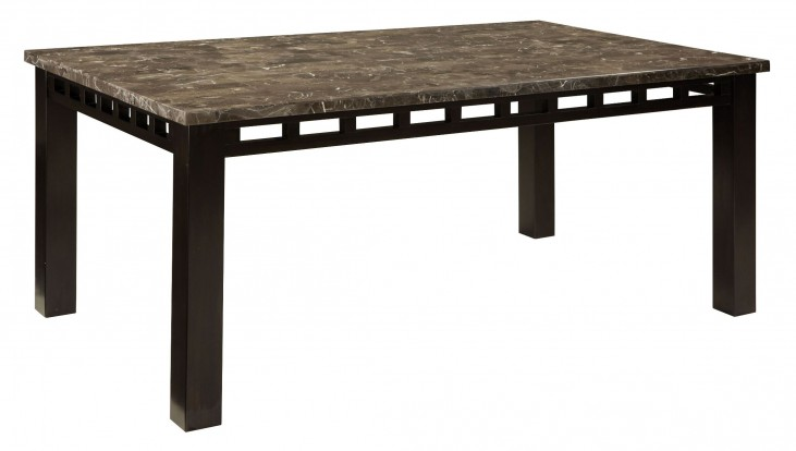 Gateway Brown and Grey Rectangular Dining Table