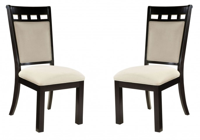 Gateway Brown and Grey Upholstered Side Chair Set of 2