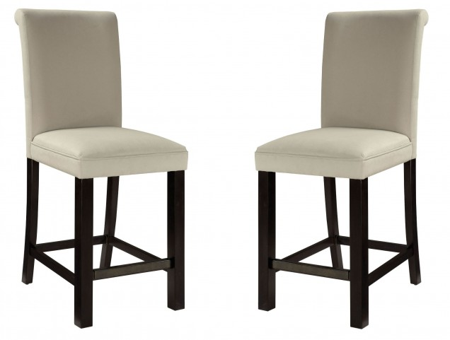 Gateway Brown and Grey Parson's Upholstered Barstool Set of 2