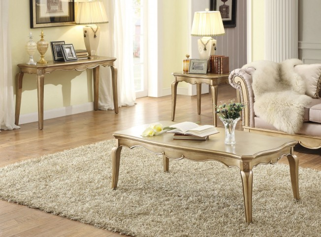 Chambord Champagne Gold Occasional Table Set