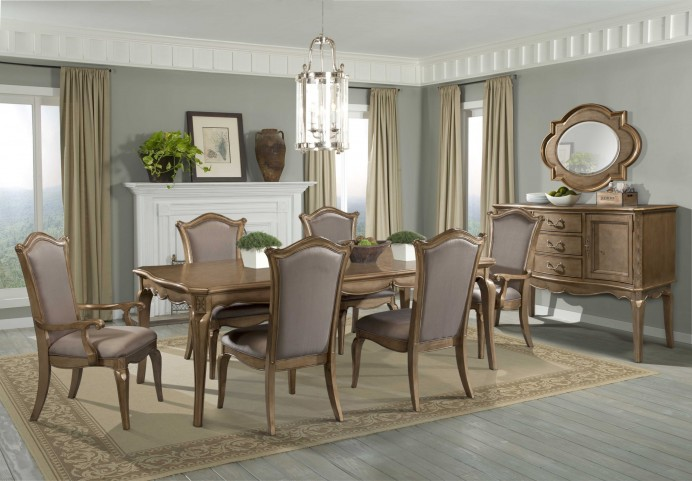 Chambord Champagne Gold Extendable Dining Room Set