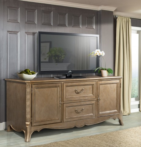 "Chambord Champagne Gold 72"" TV Stand"