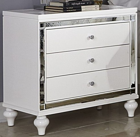 Alonza Bright White Nightstand