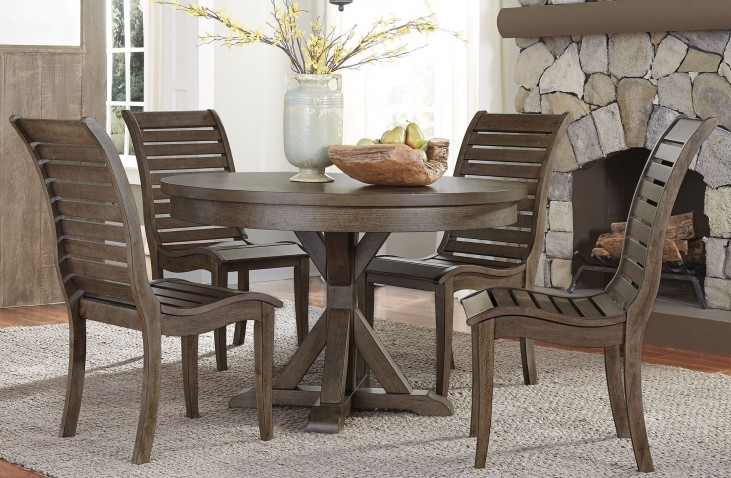 Bayside Crossing Chestnut Round Dining Room Set