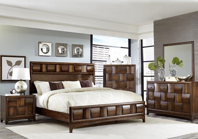 Porter Warm Walnut Panel Bedroom Set