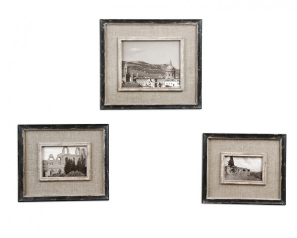 Kalidas Cloth Lined Photo Frames, Set of 3
