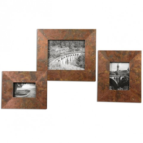 Ambrosia Copper Photo Frames Set of 3