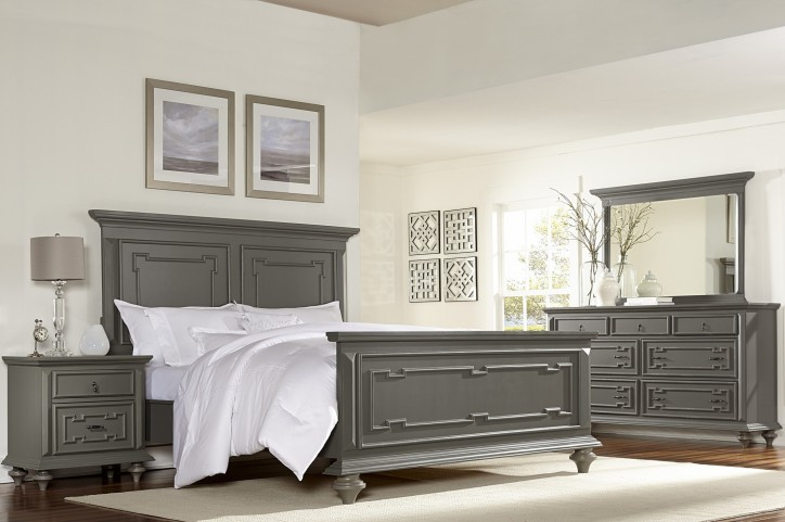 Marceline Grey Panel Bedroom Set