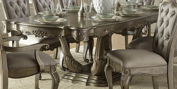 Florentina Gold Extendable Dining Table