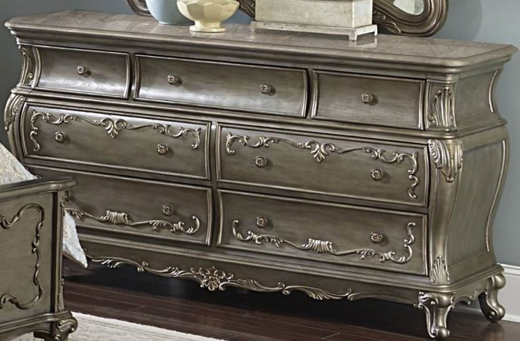 Florentina Gold Marble Top Dresser