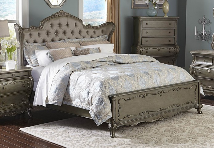 Florentina Gold King Wing Panel Bed