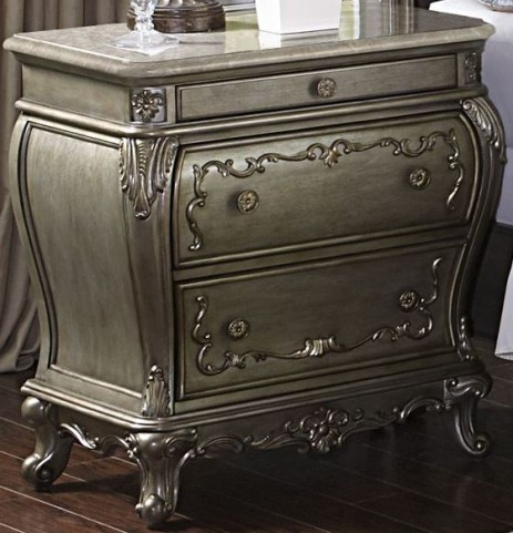 Florentina Gold Marble Top Nightstand