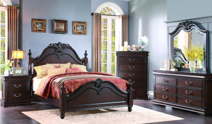 Mont Belvieu Cherry Poster Bedroom Set