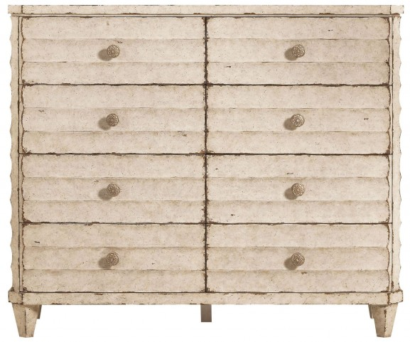 European Vintage White Cottage Dressing Chest