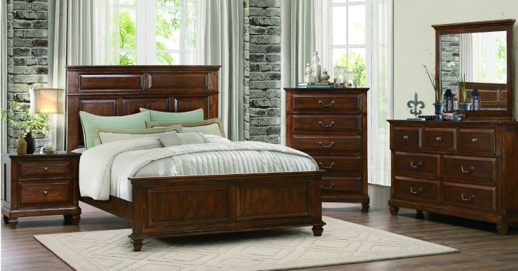 Bardwell Brown Cherry Panel Bedroom Set