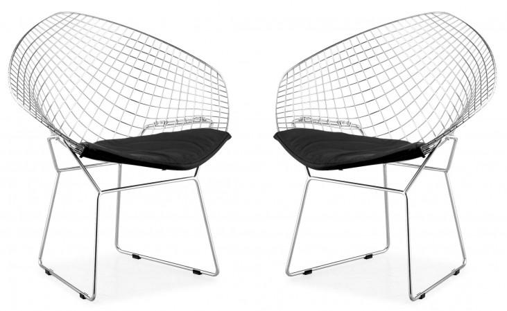 Net Dining Chair Black Set of 2