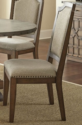 Wayland Brushed Tobacco Upholstered Side Chair Set of 2