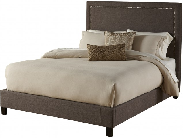 Square Queen Platform Upholstered Bed