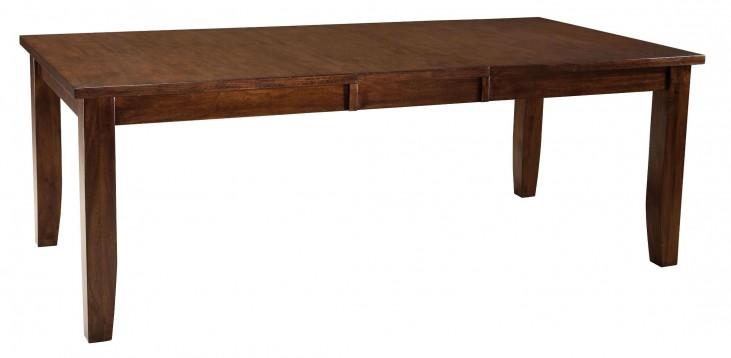 Abaco Warm Dark Tobacco Rectangular Extendable Table