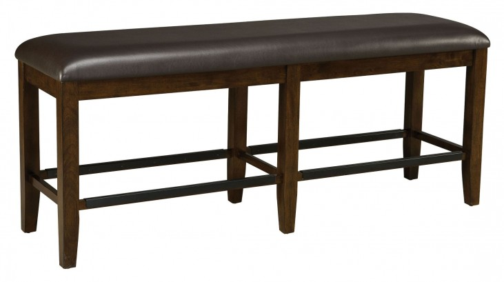 Abaco Warm Dark Tobacco Counter Height Bench