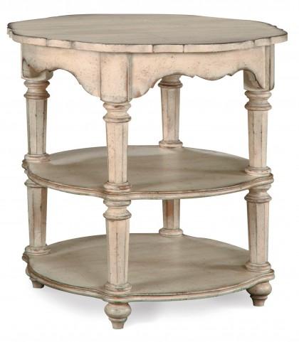 Belmar Antique Linen Round Lamp Table