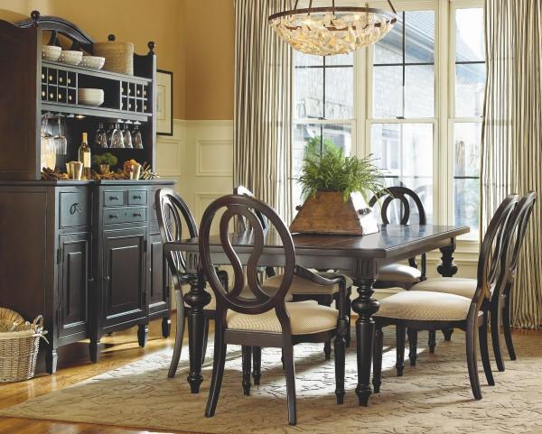 Summer Hill Midnight Rectangular Extendable Dining Room Set