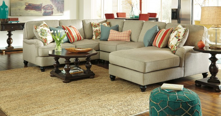 Kerridon Putty RAF Chaise Sectional