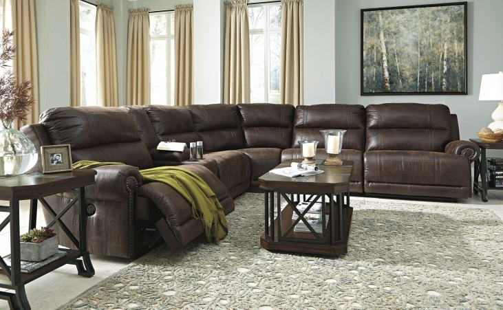 Luttrell Espresso Power Reclining Sectional
