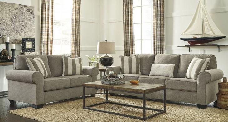 Baveria Fog Living Room Set