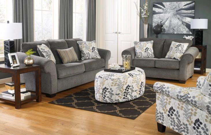 Makonnen Charcoal Living Room Set
