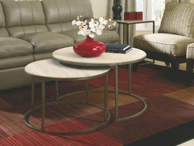 Modern Basics Round Occasional Table Set