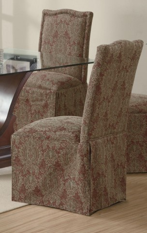 Slauson Brown Parson Chair Set of 2