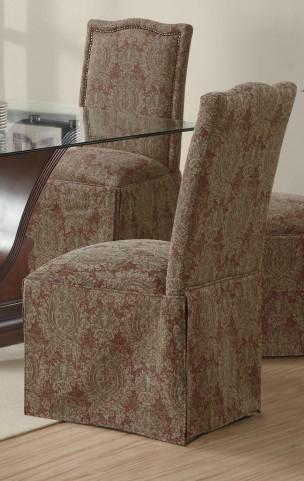 Slauson Brown Parson Chair Set of 2