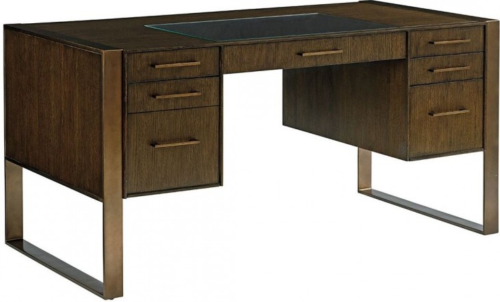Cross Effect Bronze Structure Desk