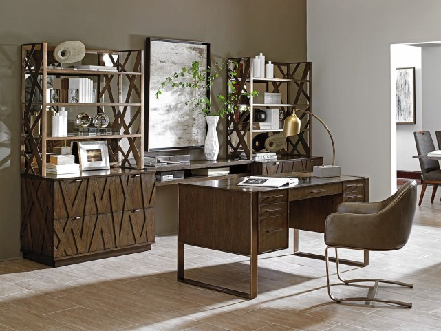 Cross Effect Bronze Structure Home Office Set