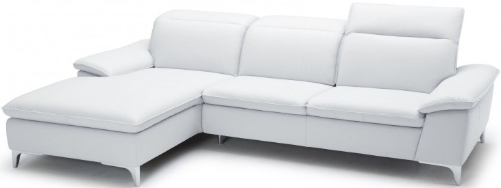 1911B White LAF Chaise Sectional