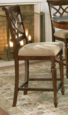 Woodmont Brown Cherry Upholstered Seat Height Chair Set of 2