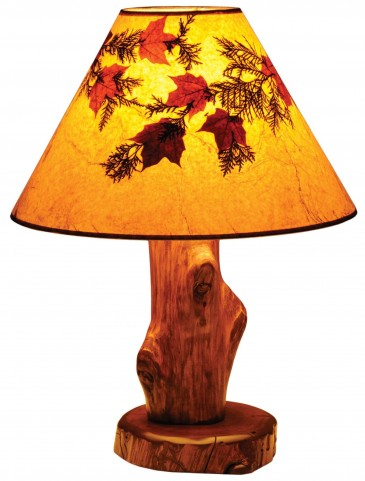 Vintage Cedar Large Shade Table Lamp