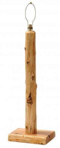 Cedar Floor Lamp Without Shade