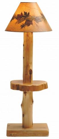 Cedar Shelf Floor Lamp Without Shade