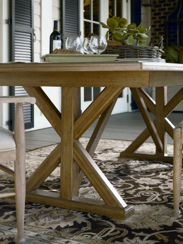 Down Home Oatmeal Family Style Rectangular Extendable Dining Room Table