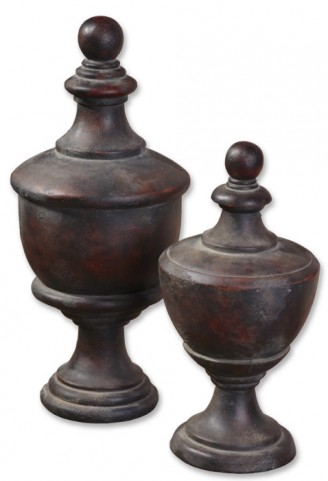 Gracelyn Antique Finials, Set of 2