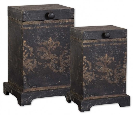 Melani Decorative Boxes, Set of 2