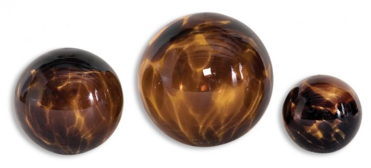 Kameko Glass Spheres, Set of 3