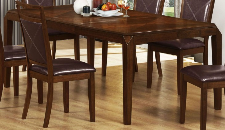 Brown Oak Extendable Dining Table