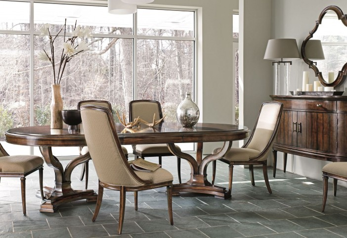 Avalon Heights Chelsea Art Epoch Pedestal Dining Room Set