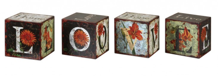Love Letters Decorative Boxes, Set of 4
