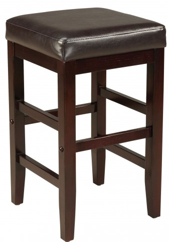 "Square Brown 24"" Upholstered Smart Stool"