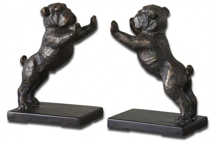Bulldogs Cast Iron Bookends, Set of 2